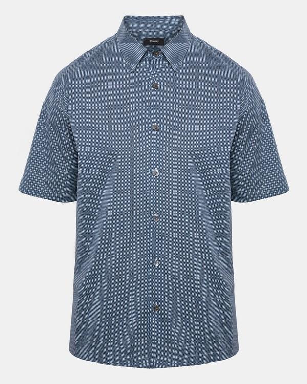 띠어리 Theory Disc-Print Shirt,LAPIS MULTI