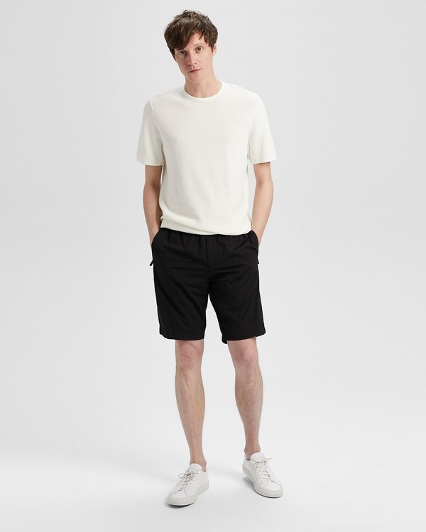 띠어리 Theory Reflective Nylon Print Short,BLACK