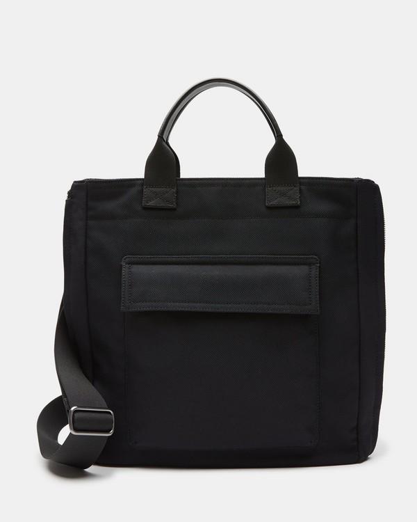 띠어리 Theory Nylon Downtown Tote Bag,BLACK