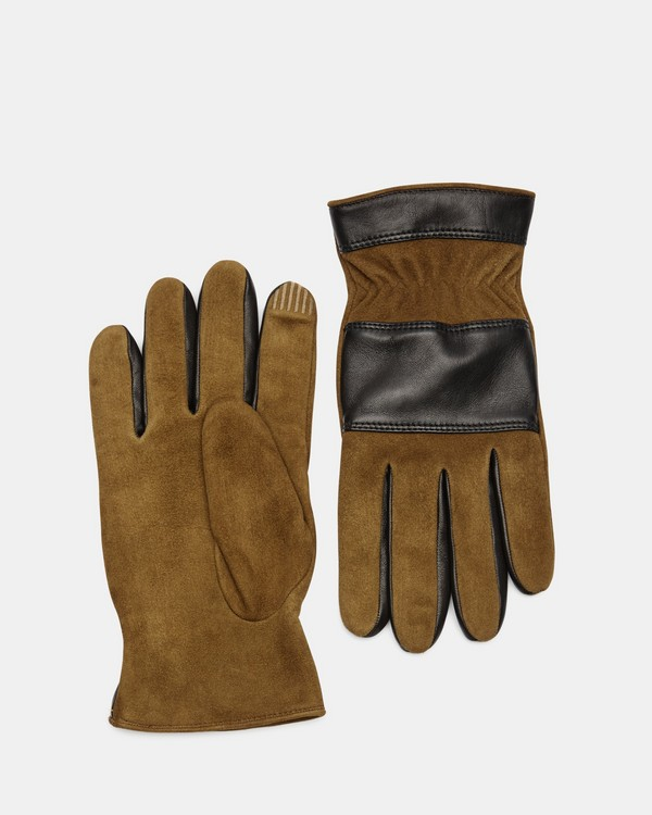 띠어리 Theory Suede Downtown Glove,COGNAC