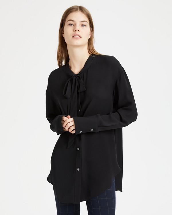 띠어리 위켄더 타이넥 셔츠 - 3 컬러 Theory Weekender Tie-Neck Shirt