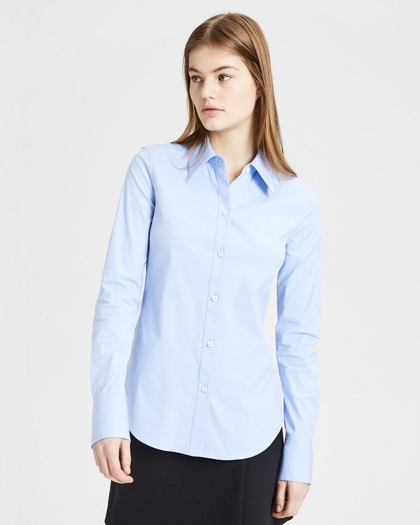 띠어리 Theory Perfect Fitted Shirt,BLUE OXFORD