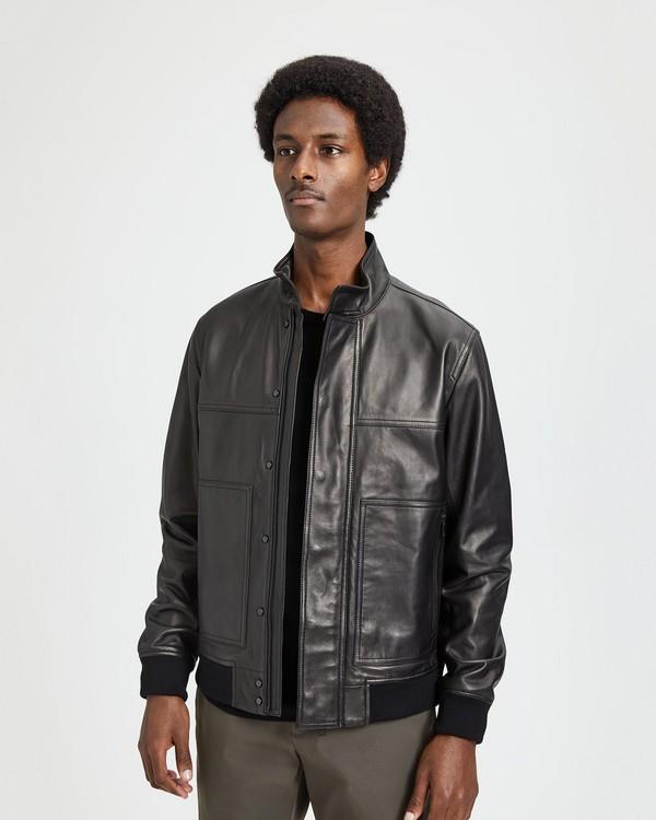 띠어리 Theory Stand-Collar Leather Jacket