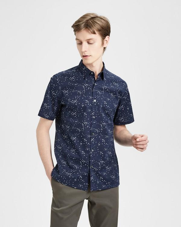 띠어리 Theory Printed Cotton Standard-Fit Shirt,ECLIPSE MULTI