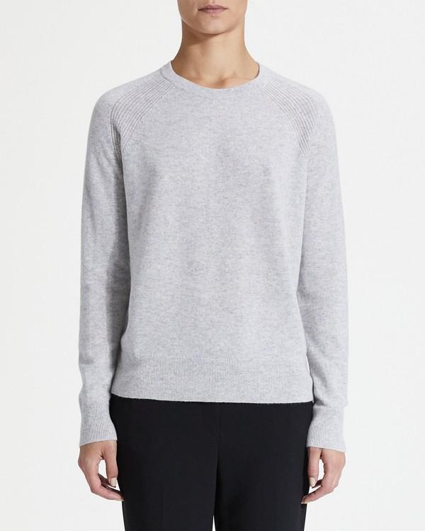 띠어리 Theory Cashmere Raglan Detail Crewneck Sweater,MISTY HEATHER GREY
