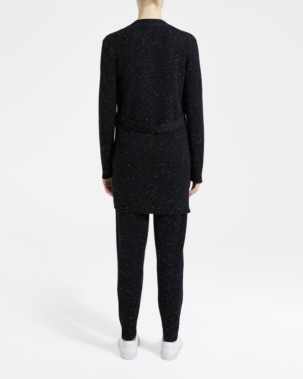 띠어리 Theory Cashmere Open-Front Belt Cardigan,BLACK MULTI