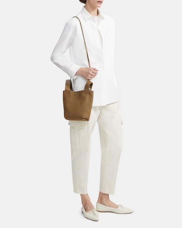 띠어리 Theory Small Urban Bucket Bag in Nubuck Leather