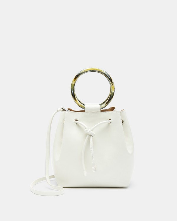 띠어리 Theory Small Drawstring Bag With Wax Cord Hoop in Soft Leather