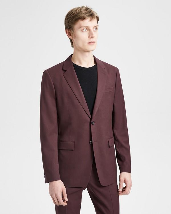 띠어리 자켓 Theory Good Wool Chambers Jacket,MALBEC