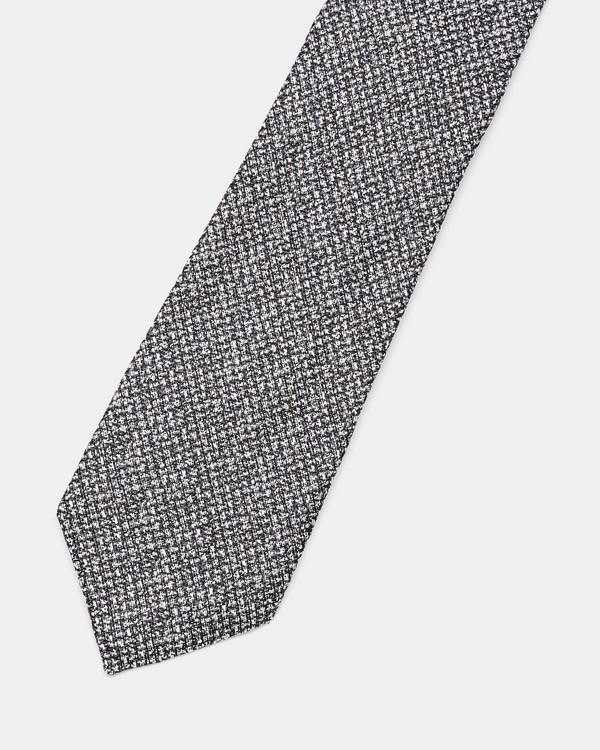 띠어리 Theory Silk Marled Roadster Tie,BLACK MULTI