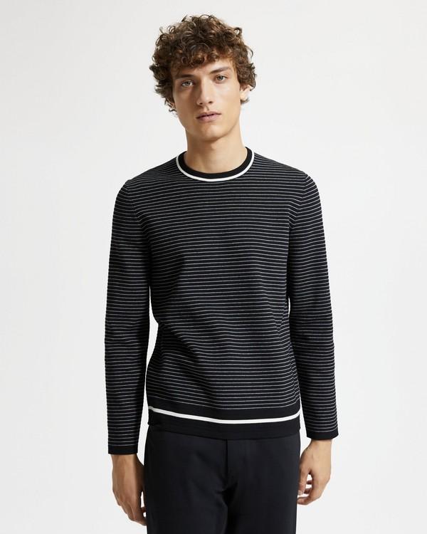 미스터 포터 x 띠어리 스웨터 Mr Porter x Theory Long-Sleeve Crewneck Sweater,BLACK MULTI