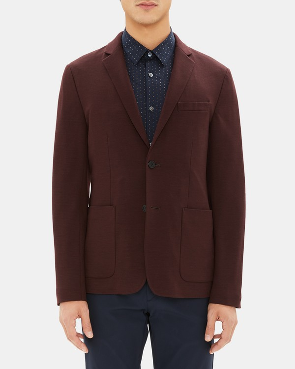 띠어리 Theory Wool Interlock Clinton Jacket,MALBEC MELANGE