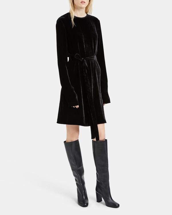 띠어리 원피스 블랙 Theory Short Slit Sleeve Sheath Dress,BLACK