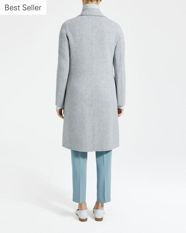 띠어리 Theory Wool-Cashmere City Coat,GREY MELANGE