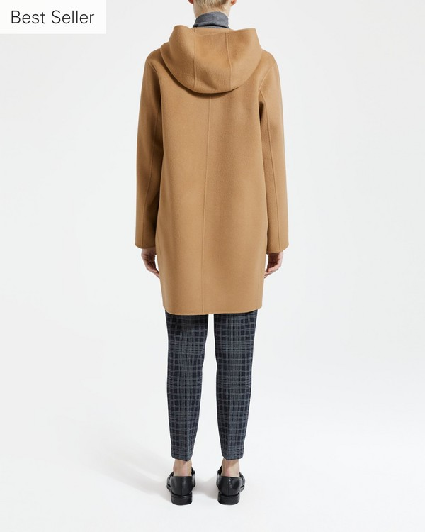 띠어리 Theory Wool-Cashmere Hooded Patch Pocket Coat