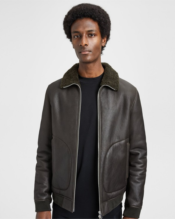 띠어리 Theory Shearling Blouson Jacket,MILITARY/MILITARY