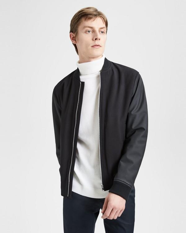 띠어리 Theory Stretch Wool Bomber Jacket,BLACK