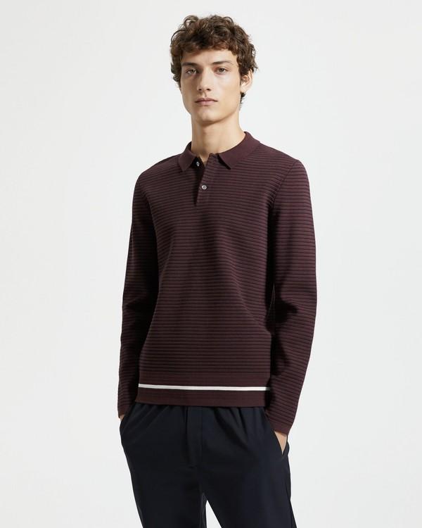 미스터 포터 x 띠어리 폴로 셔츠 Mr Porter x Theory Striped Long-Sleeve Polo,MALBEC MULTI