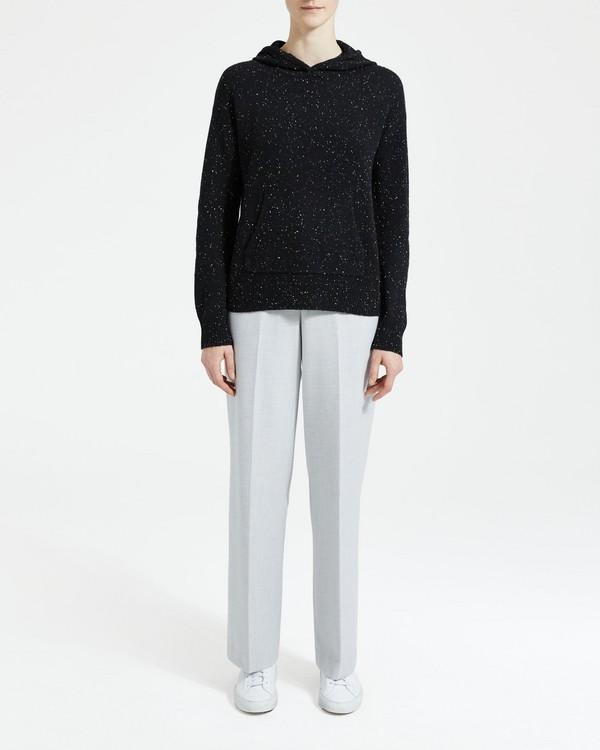 띠어리 Theory Cashmere Hoodie Sweater,BLACK MULTI