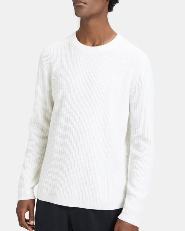 띠어리 캐시미어 스웨터 Theory Cashmere Cable-Stitch Sweater,CREAM