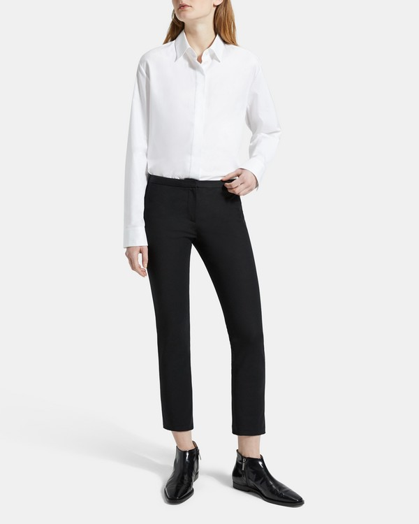 띠어리 Theory Double Stretch Cotton Classic Skinny Pant