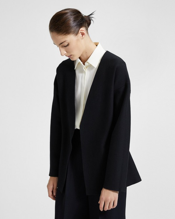 띠어리 코콘 가디건 Theory Shaped Cocoon Sleeve Cardigan,Black