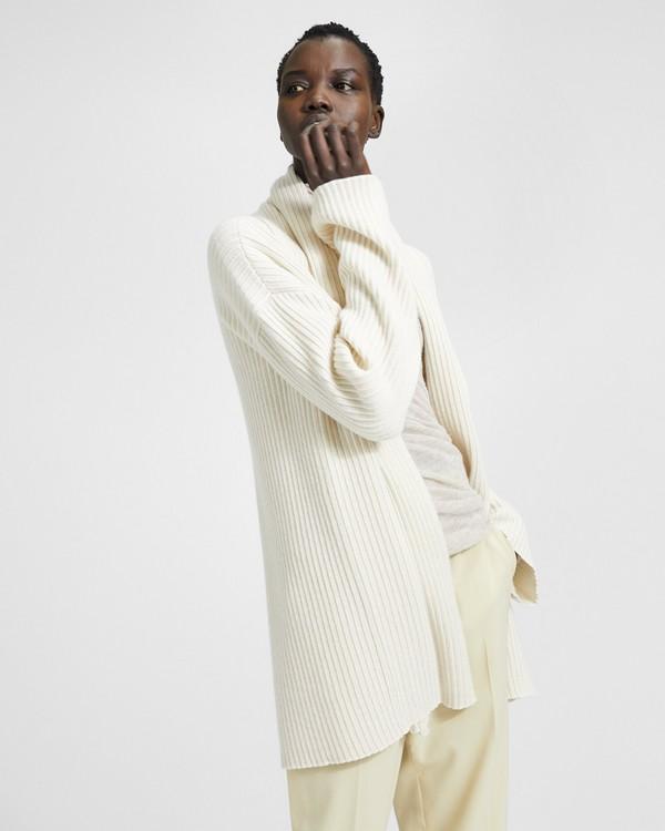 띠어리 캐시미어 오버사이즈 가디건 Theory Cashmere Oversized Rib Cardigan,IVORY/SUGAR
