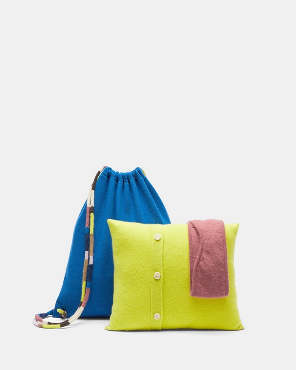 띠어리 여행용 냅색 Theory Travel Set Knapsack,ROYAL BLUE/CITRONELLA/MAUVE
