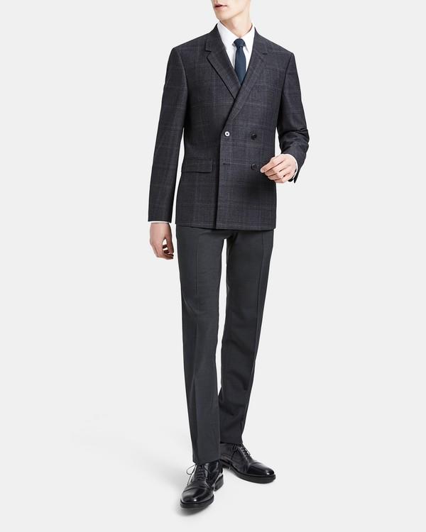 띠어리 Theory Wool Flannel Check Gansevoort Jacket,CHARCOAL