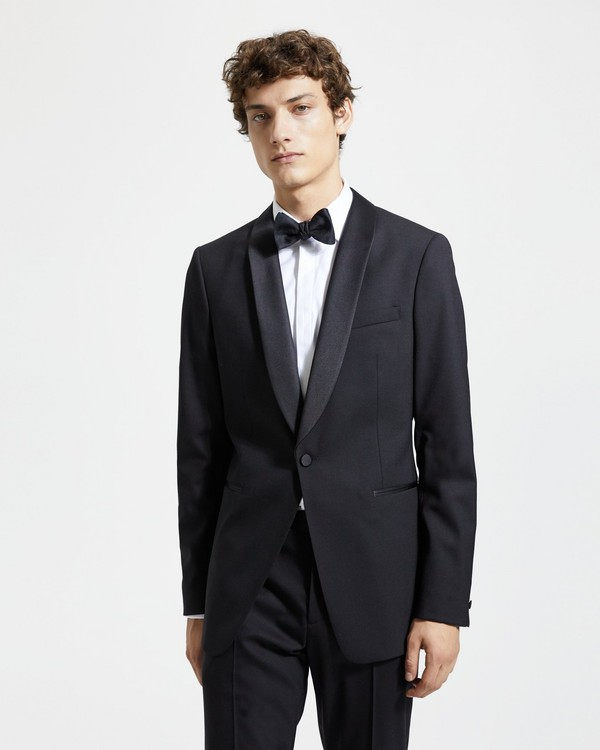 띠어리 턱시도 자켓 Theory Wool Chambers Shawl Tuxedo Jacket,BLACK