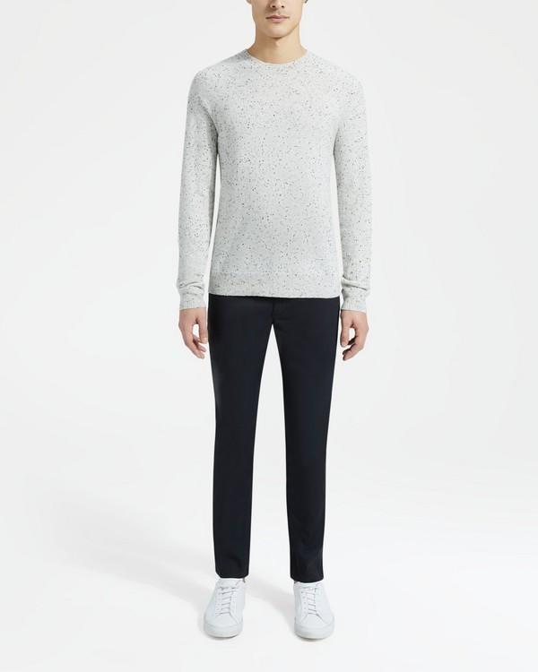 띠어리 Theory Melange Crewneck Sweater,FROST
