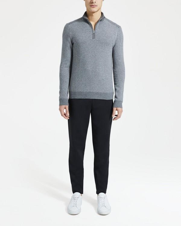 띠어리 Theory Mock Half-Zip Sweater,FOGGY MULTI