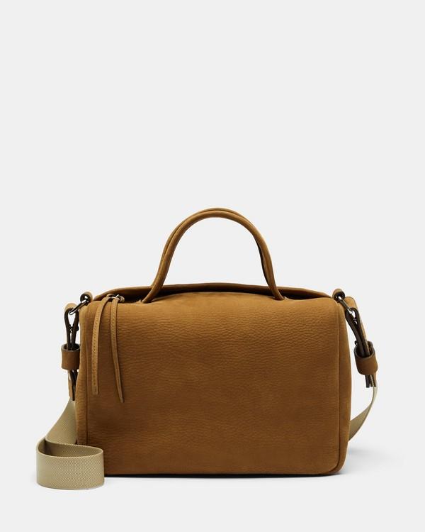 띠어리 스몰 더플백 누벅 가죽 레트로 옐로 Theory Small Duffle in Nubuck Leather,RETRO YELLOW
