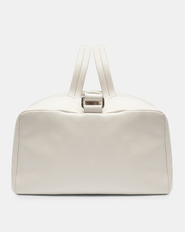 띠어리 라지 더플백 페일 스톤Theory Large Duffle in Leather,PALE STONE