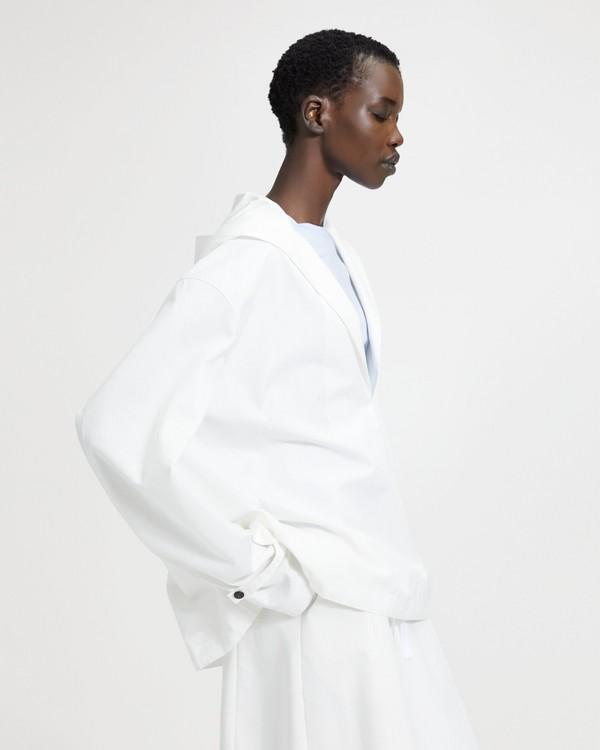 띠어리 Theory Cotton-Silk Hooded Pullover,SEA SALT