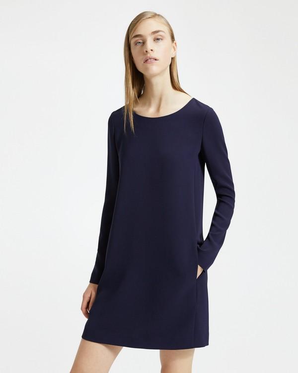 띠어리 Theory Long-Sleeved Paneled Shift Dress