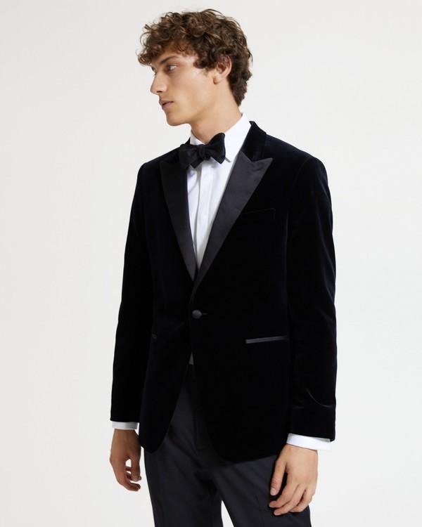 띠어리 벨벳 턱시도 자켓 Theory Velvet Chambers Tuxedo Jacket,BLACK