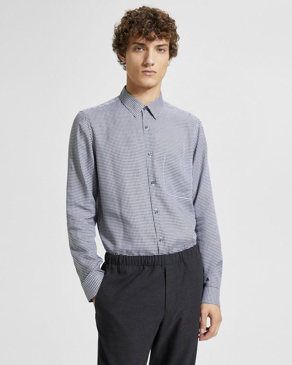 띠어리 맨 브러쉬드 깅험 스탠다드핏 셔츠 Theory Brushed Gingham Standard-Fit Shirt