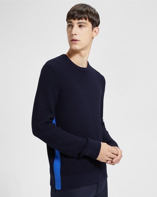 띠어리 맨 사이즈 스트라이프 스웨터 Theory Side Striped Sweater