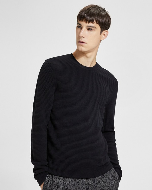 띠어리 Theory Ribbed Crewneck Sweater