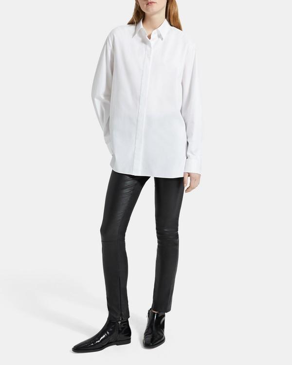 띠어리 Theory Skinny Leather Legging,BLACK