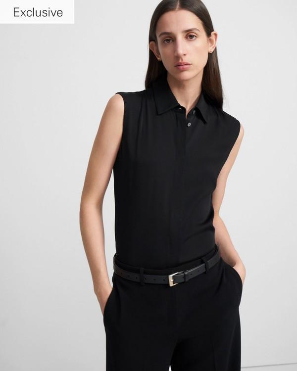 띠어리 Theory Classic Fitted Sleeveless Shirt