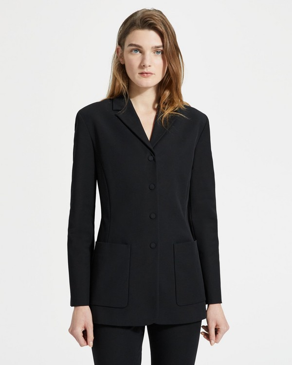 띠어리 Theory Double Stretch Cotton Slim Blazer
