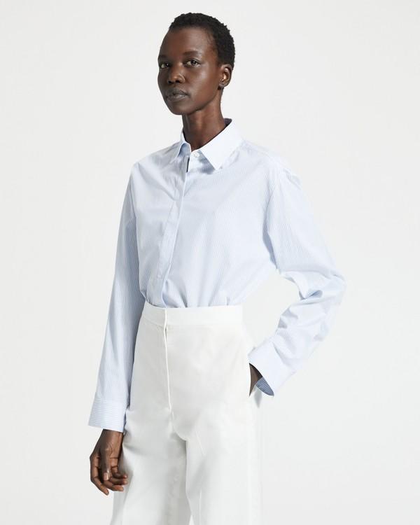 띠어리 Theory Striped Classic Menswear Shirt,WHITE MULTI