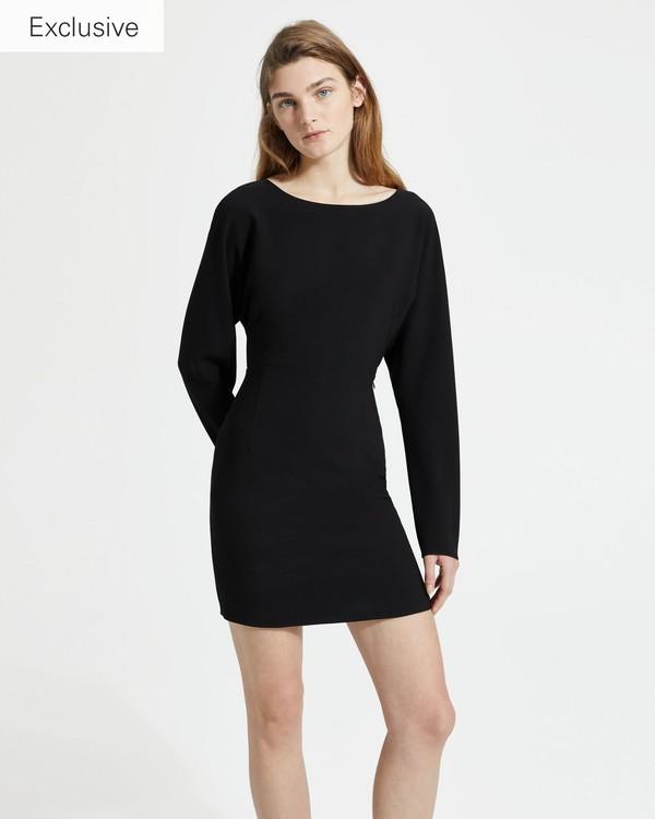 띠어리 돌먼 슬리브 원피스 Theory Classic Crepe Dolman Sleeve Dress, BLACK
