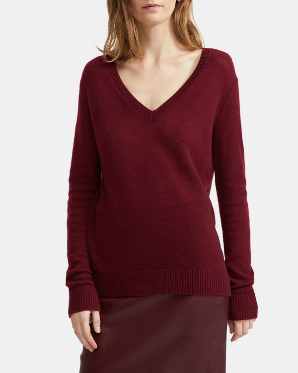 띠어리 Theory Cashmere V-Neck Sweater