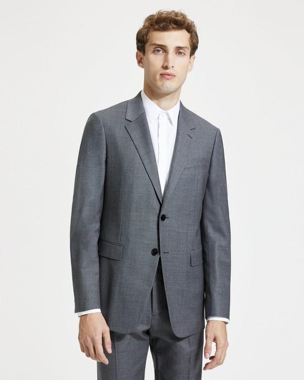 띠어리 Theory Sartorial Sharkskin Wool Chambers Jacket,CHARCOAL