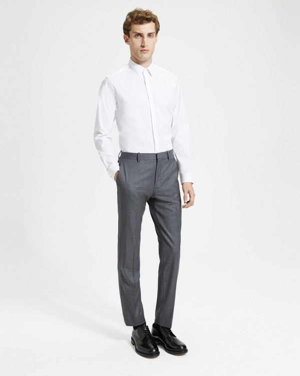 띠어리 Theory Sartorial Sharkskin Wool Mayer Pant,CHARCOAL