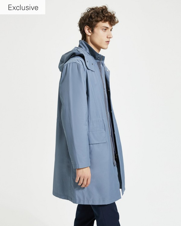 띠어리 Theory Cotton-Nylon Parka with Detachable Hood,DARK SLOPE