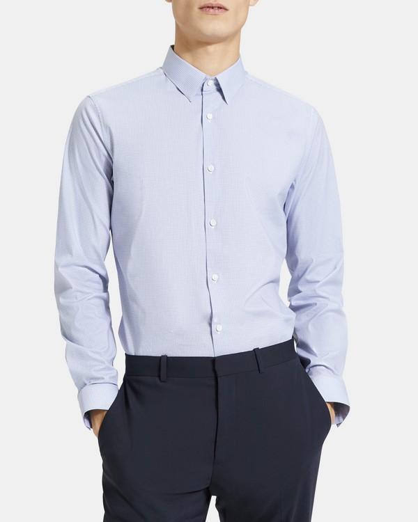 띠어리 맨 코튼 체크 세드릭 셔츠 - 이클립스 멀티 Theory Cotton Check Cedrick Shirt,ECLIPSE MULTI